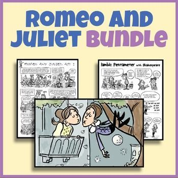What are three scenes in Act 1 of Romeo and Juliet that show comic elements?