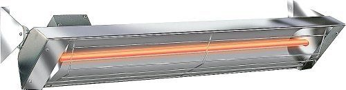 """Infratech 4,000 Watt 240 Volt 61.2"""" Electric Infrared Patio Heater Stainless Steel W4024ss by Infratech. $524.99. Can be mounted to a wall, ceiling, or on a freestanding pole (Sold Separately.). Includes wall or ceiling mounting bracket.. Suitable for indoor or outdoor installation.. Can be mounted up to 14 feet high.. Finish: Powder Coated Beige or Stainless Steel.. 4,000 Watt 240 Volt 61.2"""" Electric Infrared Stainless Steel Patio Heater. Whether dining alfresco, hosting a cou..."""