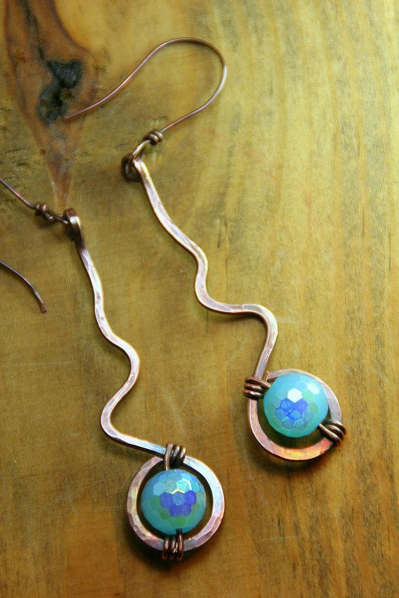 Summer Solstice  Hammered Copper with Ocean by AllowingArtDesigns, $20.00