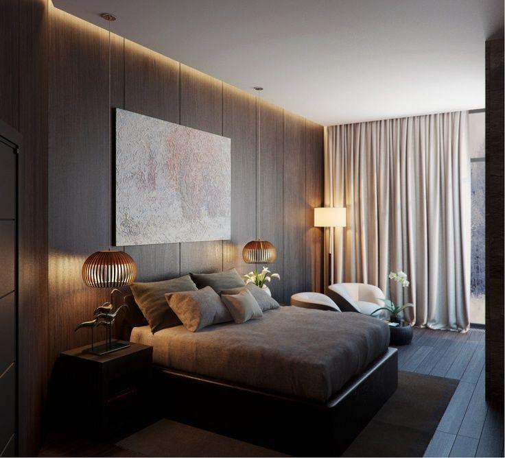 sử dụng vách ốp gỗ làm điểm nhấn đầu giường