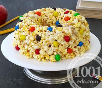 Торт из попкорна и маршмэллоу