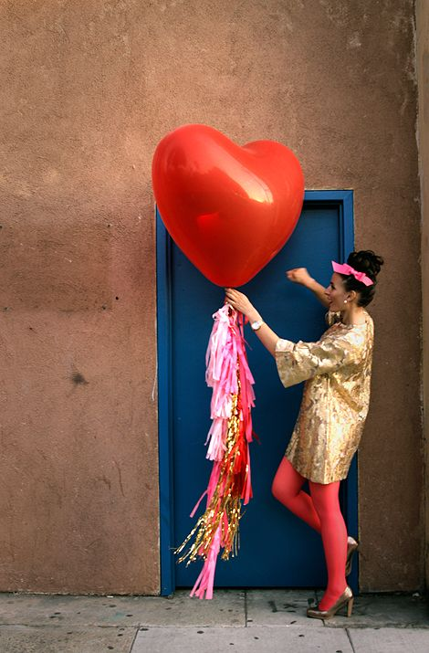 Valentine's Day heart balloons