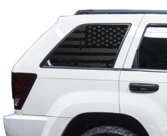 Distressed American Flag Decal Set For Jeep Grand Cherokee