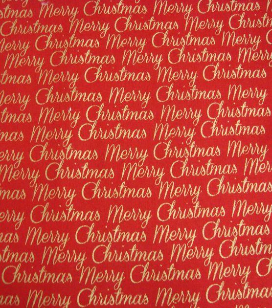 Holiday Inspirations Fabric-Christmas Merry Christmas Red Metallic at Joann.com: