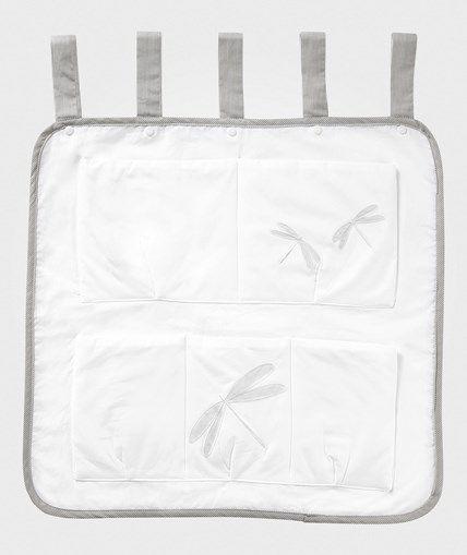 Vinter & Bloom Spjälsängsförvaring Fine Embroidery Vit/Grå Vit