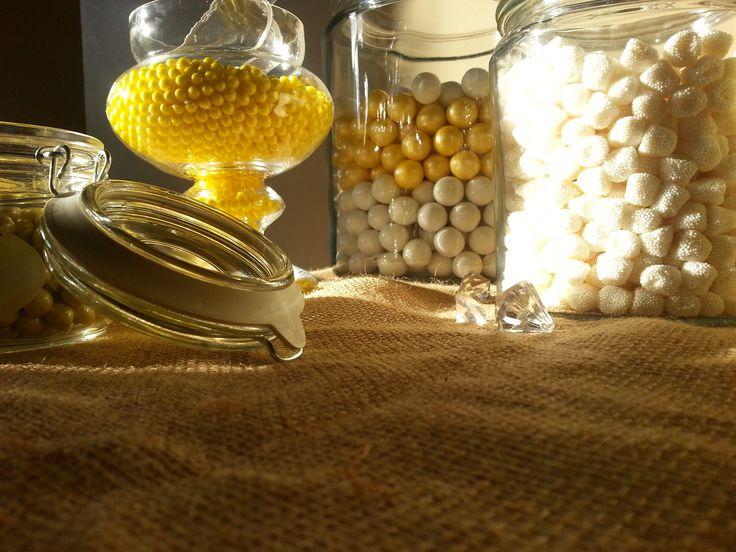 Yellow Candy Bar  Canebrake Country Club Hattiesburg, MS  #candy #bar #wedding #venue #southernwedding