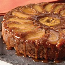 That looks how fall should taste! Apple Upside-down Cake from King Arthur Flour.  I may actually have to make this one.