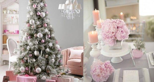 Decorazioni pastello per un Natale romantico