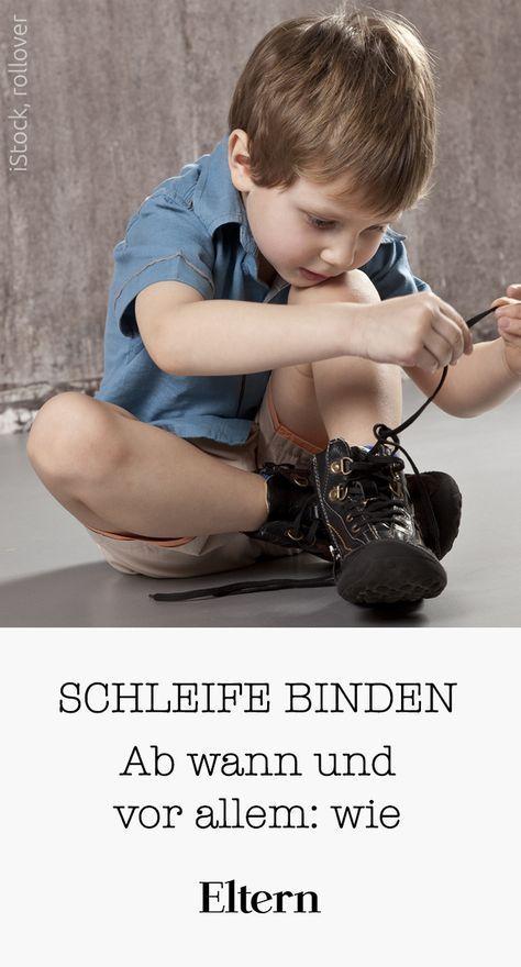 So lernt Dein Kind eine Schleife zu binden