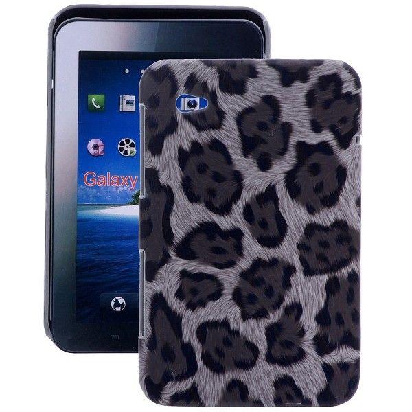 Leopard (Sort) Samsung Galaxy Tab P1000 Deksel