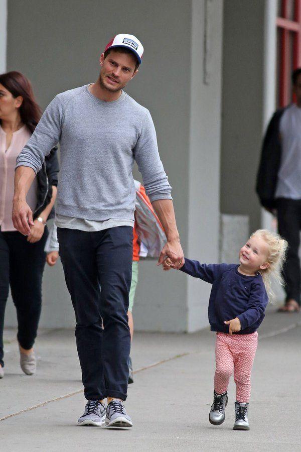 #Jamie Dornan with baby, #Dornan's daughter  #Dulcie Dornan  #Jamie dornan 2016