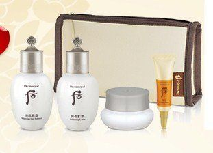 The History of Whoo - Whitening Gift Set - 4 Pieces by The History of Whoo. $56.00. Whitening Skin Balancer - 20 ml. Whitening Intensive Cream - 4 ml. Whitening Lotion - 20 ml. Ja Seong Essence - 4 ml. This four piece travel gift set comes with some of the most popular items from The History of Whoo's whitening line of products.