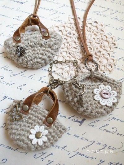332d474ca 13 Mini Bolsos de Dulce en Crochet!!   Otakulandia.es   crochê ...