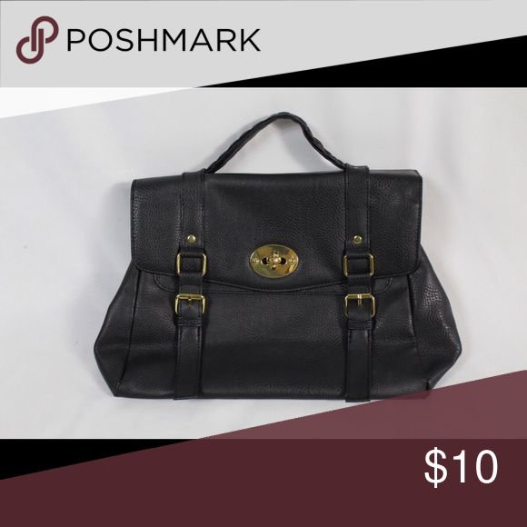 Black leather briefcase purse PU leather briefcase purse Bags Travel Bags