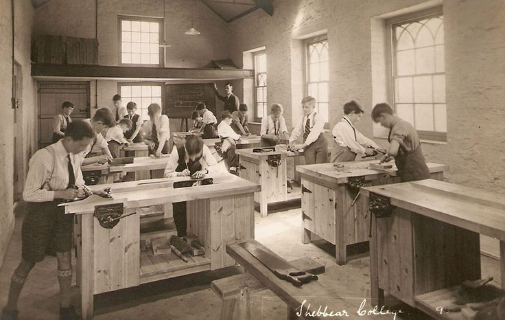 View of an old classroom