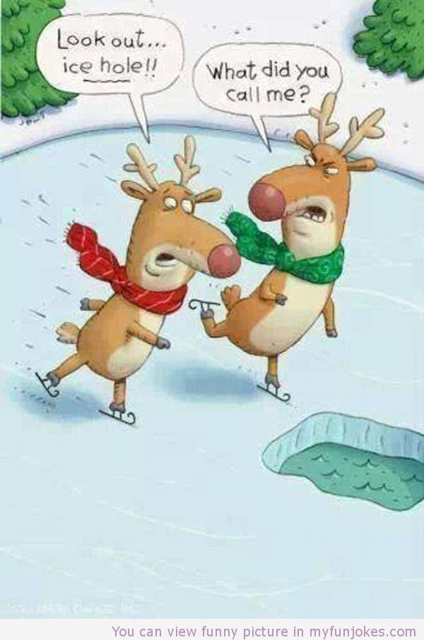 Funny reindeer cartoon —