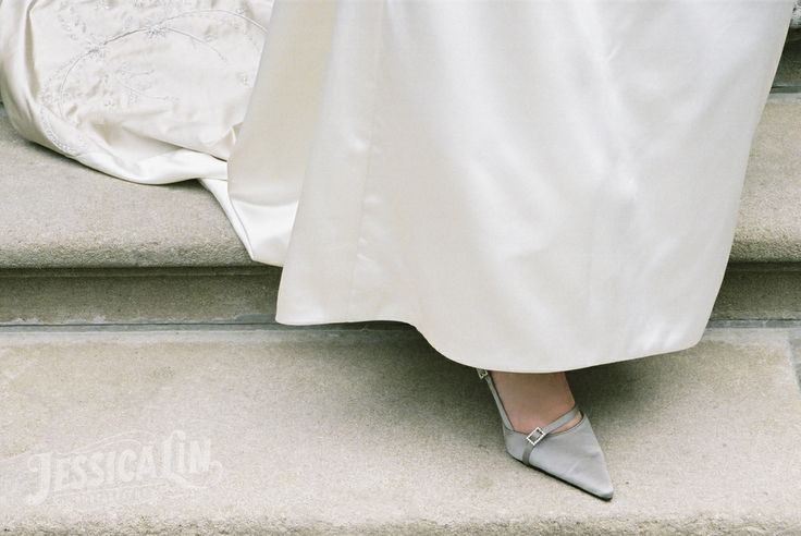 #wedding #shoes #bride #heels #detail #silver #grey #fancy #feminine #Toronto #JessicaLinPhotography