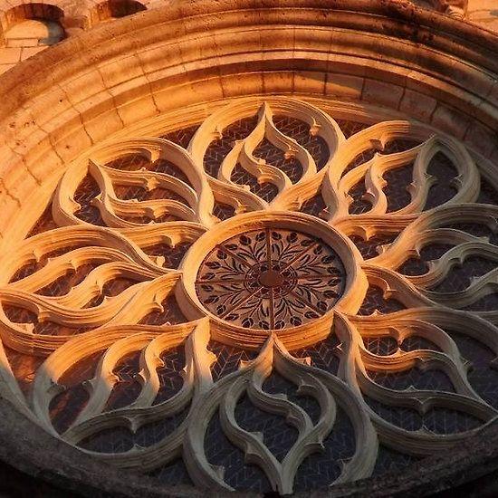 Cognac church sunset
