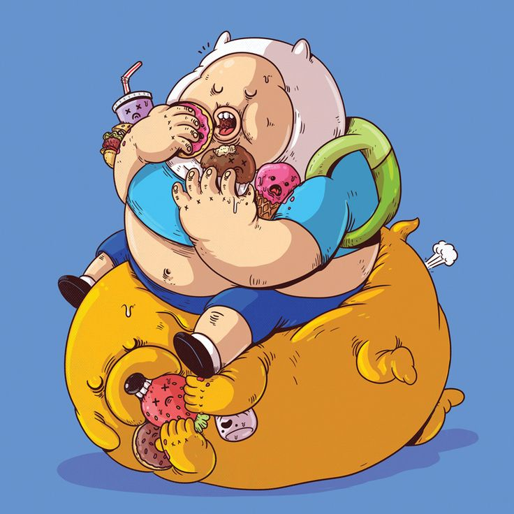 Your Favorite Cartoon Characters Just Got Fat (Gallery)