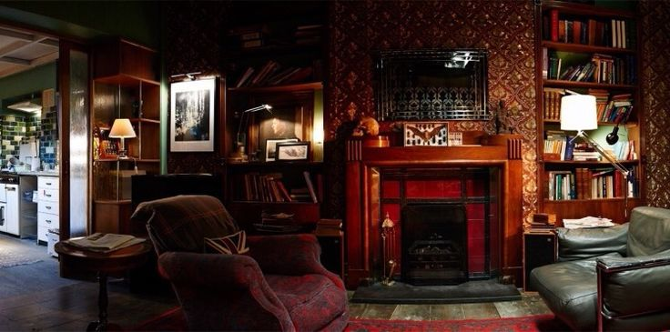 not a manor but i like the sherlock holmes 39 fireplace mantel interiors english manner house. Black Bedroom Furniture Sets. Home Design Ideas