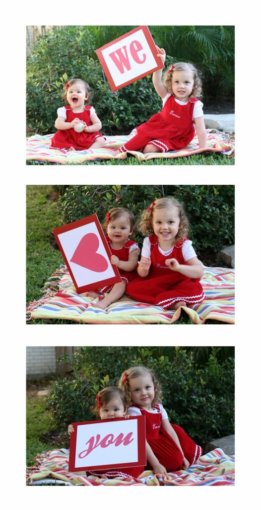 valentines day photo shoot...would be cute to give to daddy or grandparents