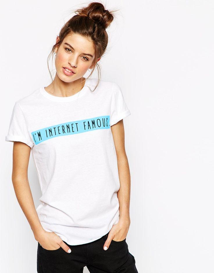 Adolescent Clothing Boyfriend T-Shirt With Internet Famous Slogan