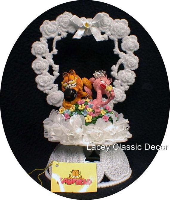 Garfield & Arlene Wedding Cake Topper entwined tails Cat Kiitty Custom Animals on Etsy, $42.80