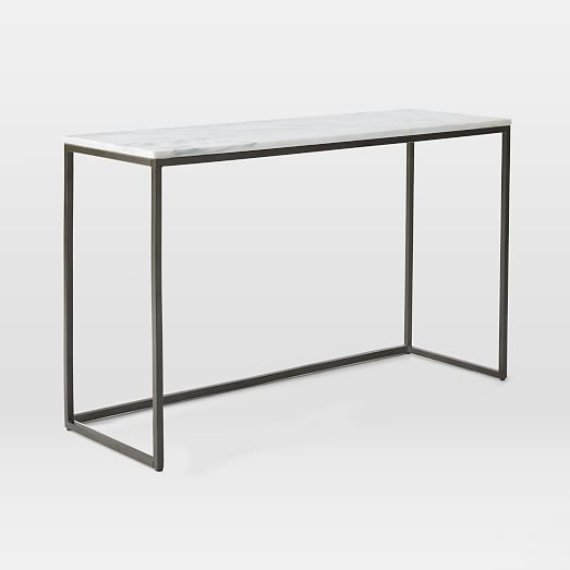 console table option for behind sofa or under tv w/ ottoman tucked underneath
