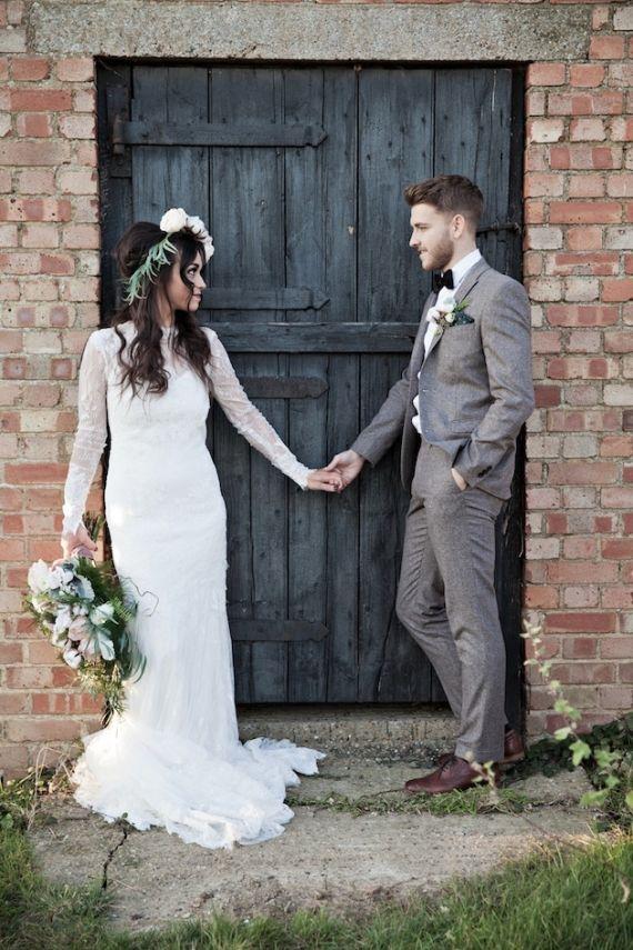 Well Groomed Country Gentlemen Grey Tweed Wedding Suitgrey