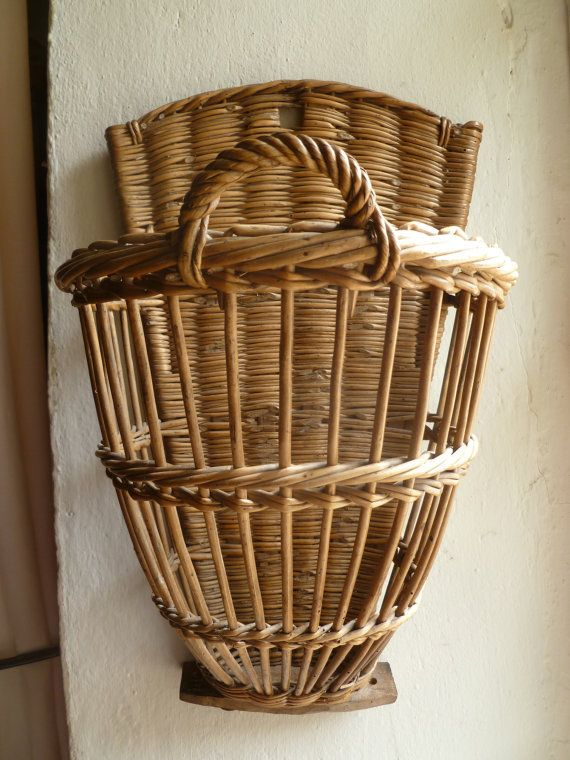 Gorgeous and rare vintage French basket by Margalide on Etsy
