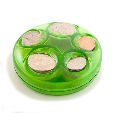 Coin Holder  Free up your cup holders for drinks again and organize your change by value, making it easy to deal out the correct change at toll booths and parking meters.  Coin Boy Coin Dispenser, $4.95, mycoinboy.com