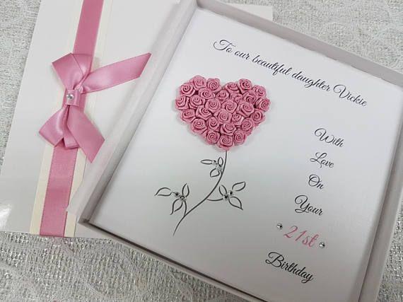 Handmade Personalised Birthday Card Keepsake To Celebrate 1st 2nd 15th 16th 17th 18th 19th 20th 21 Birthday Cards Handmade Birthday Cards Personalized Birthday