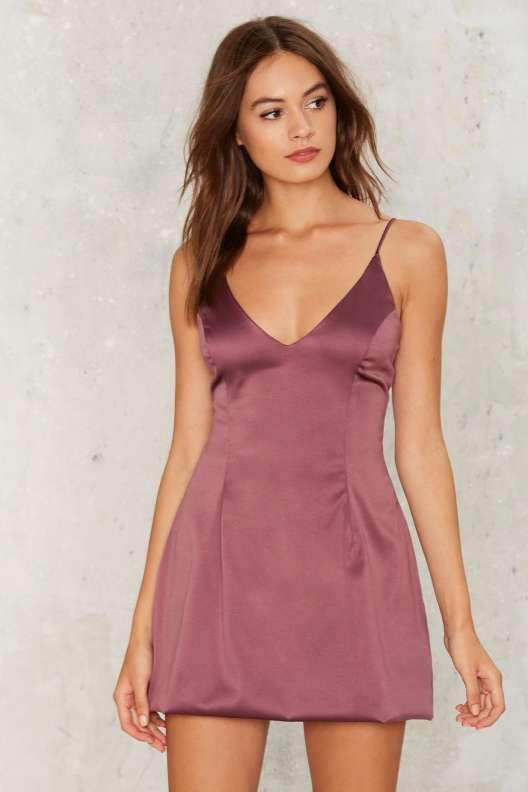 Satin a Good Way Mini Dress - Dresses