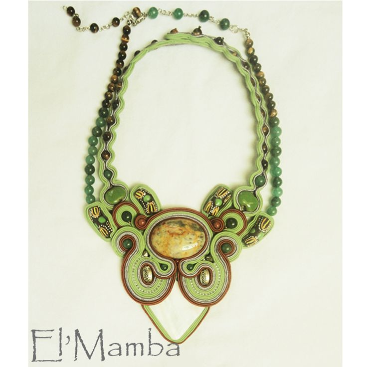 soutache African inspired necklace