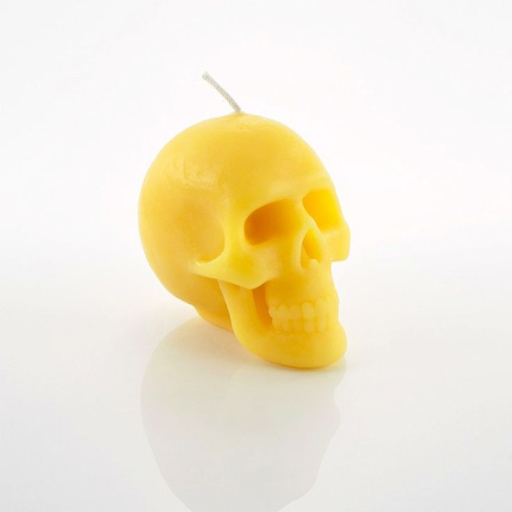 Yellow Skull Candles by HILD! Mango and Pineapple scented. #skullcandle
