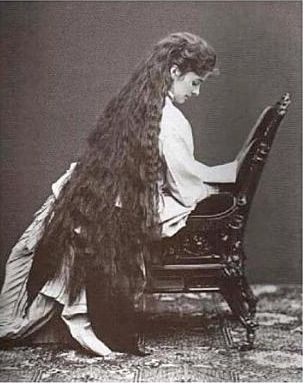 Empress Elisabeth of Austria, and her insane amount of hair! (Which apparently took 4 hours to dress!)