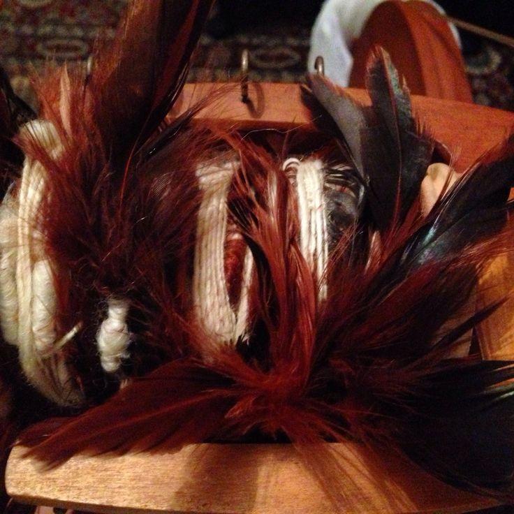 A full bobbin of feather yarn baby