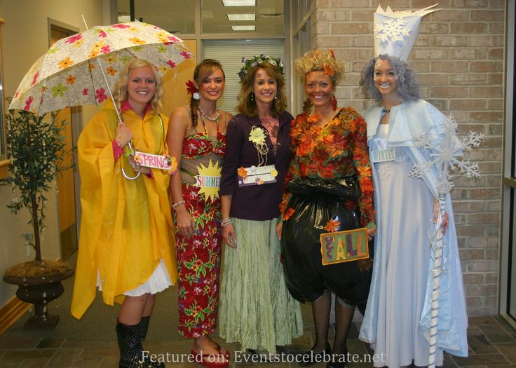 Four Seasons Group Halloween Costume - Spring, Summer, Mother Nature, Fall & Winter