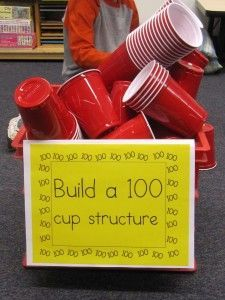 100 cup structure & more Found this on Pinterest, excited about trying this.