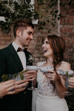 Craft cocktails and moody colors galore from this modern Nashville wedding| Image by Cody & Allison Photography