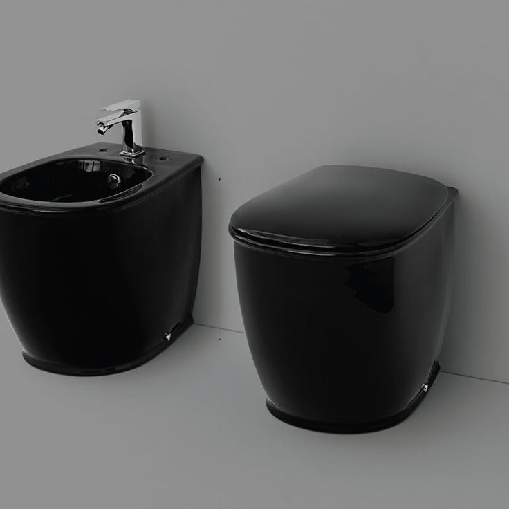 stand wc und bidet serie azuley schwarz soft close sitz art ceram azuley pinterest. Black Bedroom Furniture Sets. Home Design Ideas