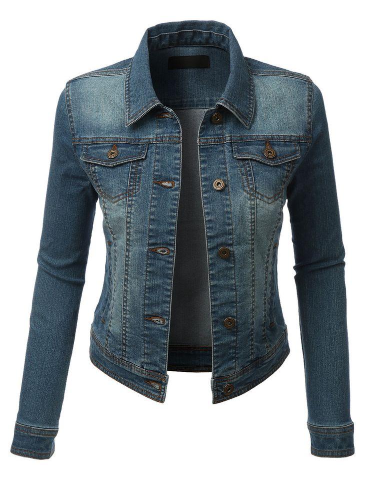Womens Cropped Jean Jacket