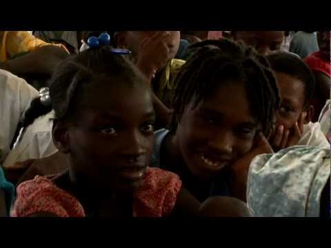 Un livre pour un enfant d'Haïti - nice lesson in sharing and empathy - students can be told about the earthquake in 2010, the destruction of libraries, etc. and then asked to figure out from the video what the French children did for them