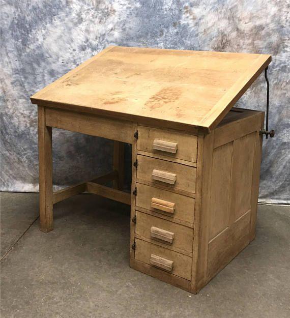 42 Architect Desk Drafting Wood Slant Top School Desk Architects Desk Desk Bedroom Deco