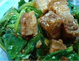 Chinese Broccoli :Stir-fried Chinese broccoli with oyster sauce from Pattaya Bay Restaurant in Los Angeles #Food #Broccoli #Restaurant forked.com