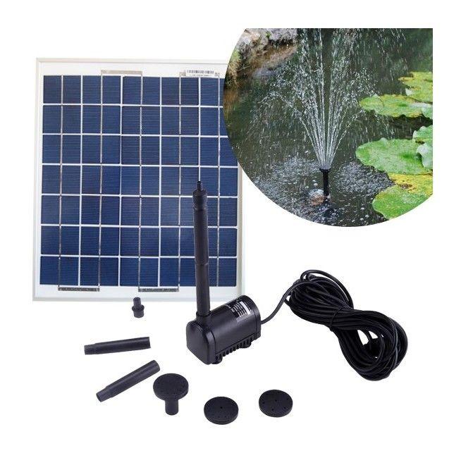 Kit pompe solaire 200L/h: avec panneau solaire 5W 6V polycristallin - KIT_PSP_MP200 - Jardin piscine