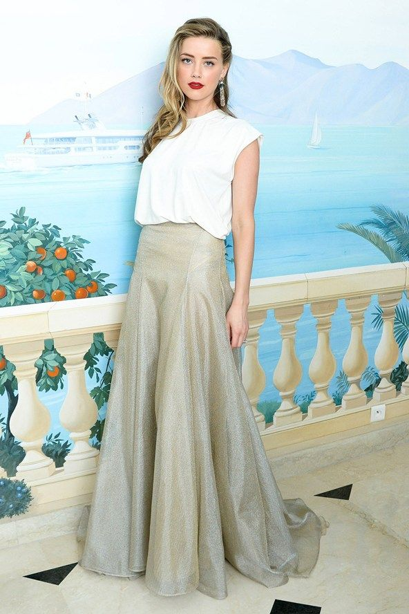 Amber Heard works a cool girl vibe in Vionnet for the De Grisogono party.