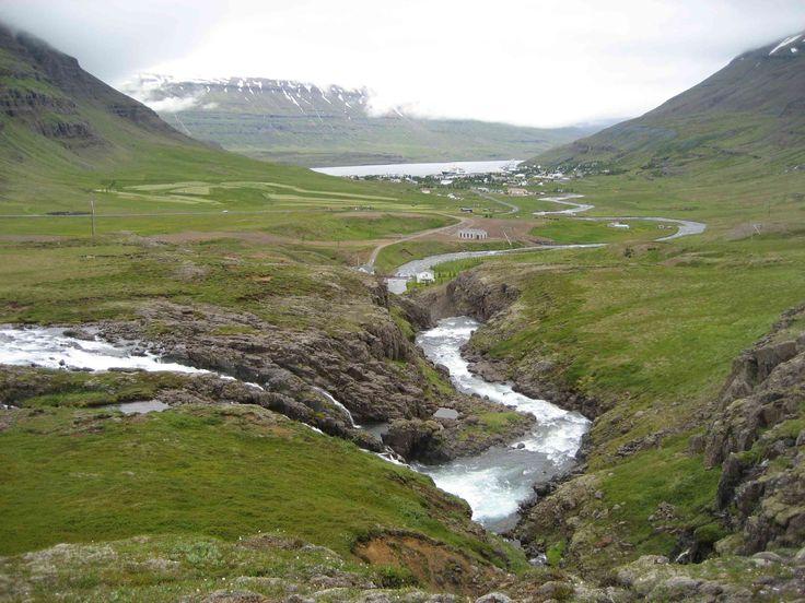A river near Seydisfjordur, Iceland