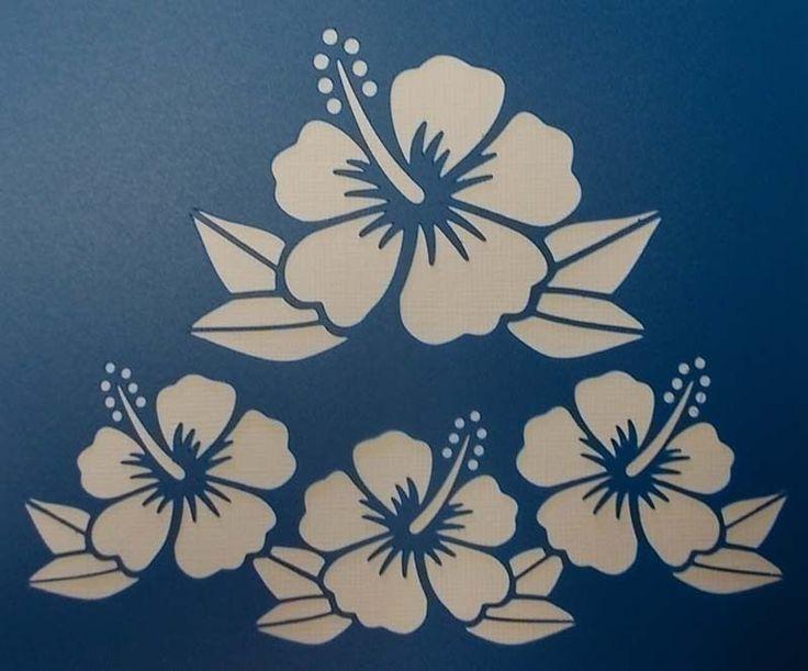 Scrapbooking - STENCILS TEMPLATES MASKS Sheet - Hibiscus Stencil