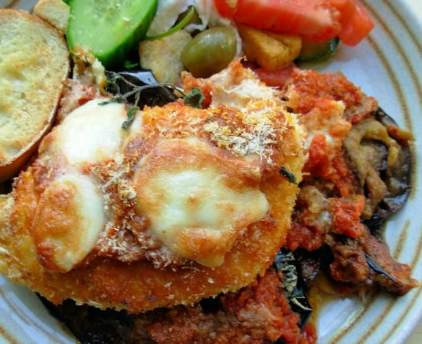 Oven Baked Chicken And Aubergine Egg Plant) Parmigiana Recipe - Food.com - 426401